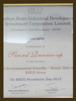 Most Environmental Friendly Green Unit in RIICO